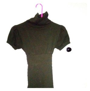 Tops - Army Green Tight Neck Top